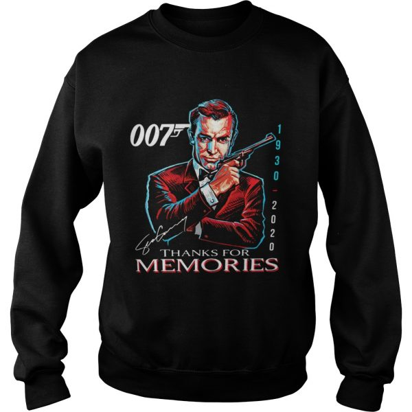 007 Sean Connery 1930 2020 Thank You For The Memories Signature  Sweatshirt
