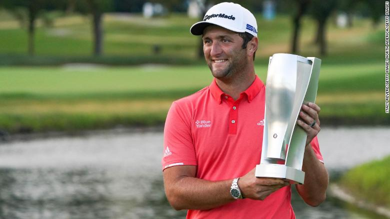 'Maybe the greatest golf shot you'll ever see': Jon Rahm skips ball across pond in amazing hole-in-one at the Masters