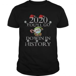 2020 Youll Go Down In History Elf Wear Mask Christmas  Unisex