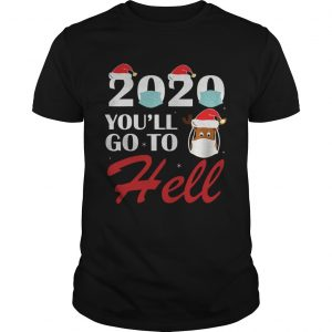 2020 Youll Go To Hell Christmas Reindeer Mask Xmas  Unisex