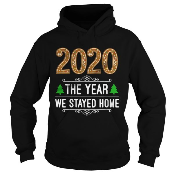 2020 the year we stayed home Christmas  Hoodie
