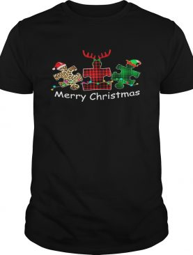 Autism Santa Reindeer Elf Merry Christmas shirt