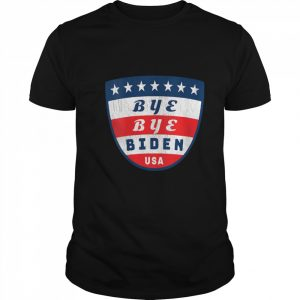 Bye Bye Biden Usa Flag Shield  Classic Men's T-shirt