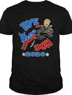 Bye Don 2020 democrat Donkey kick Donald Trump out cartoon shirt