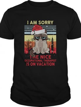 Cat Santa I Am Sorry The Nice Occupational Therapist Is On Vacation Vintage shirt