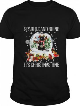 Cat Sparkle And Shine It's Christmas Time shirt