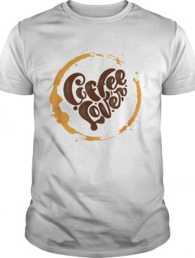 Coffee Lover Heart Distressed shirt