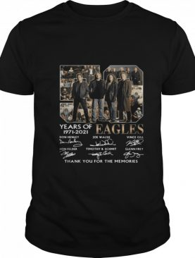 Eagles 59 Years Of 1971 2021 Thank You For The Memories Signature shirt