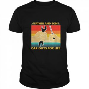 Father And Son Car Guys For Life Vintage  Classic Men's T-shirt