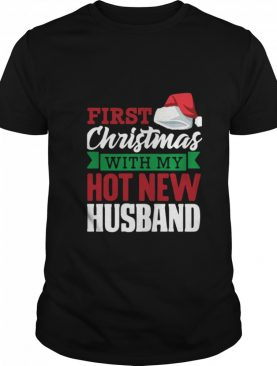 First With My Hot New Hat Santa Christmas shirt