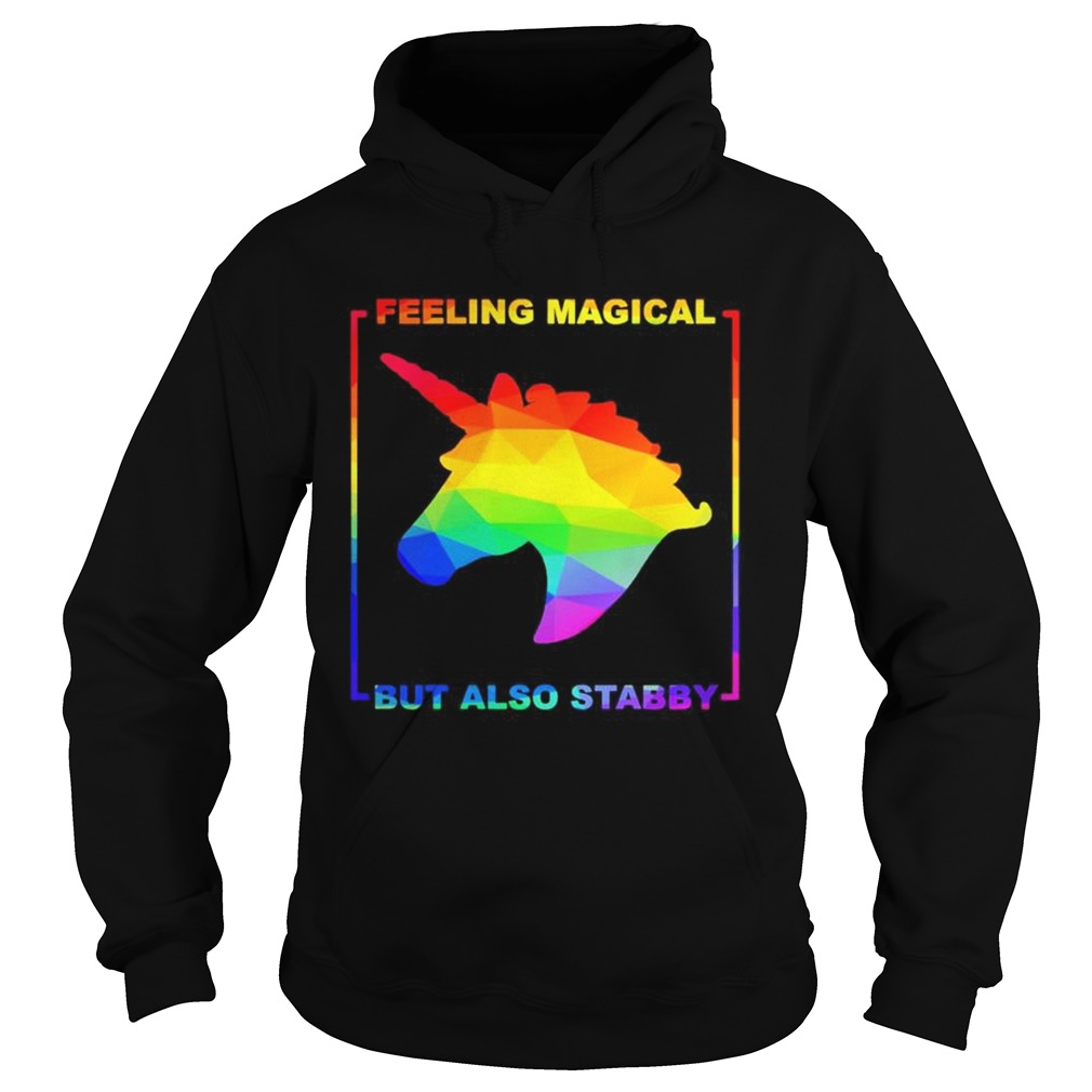 LGBT unicorn feeling magical but also stabby Hoodie