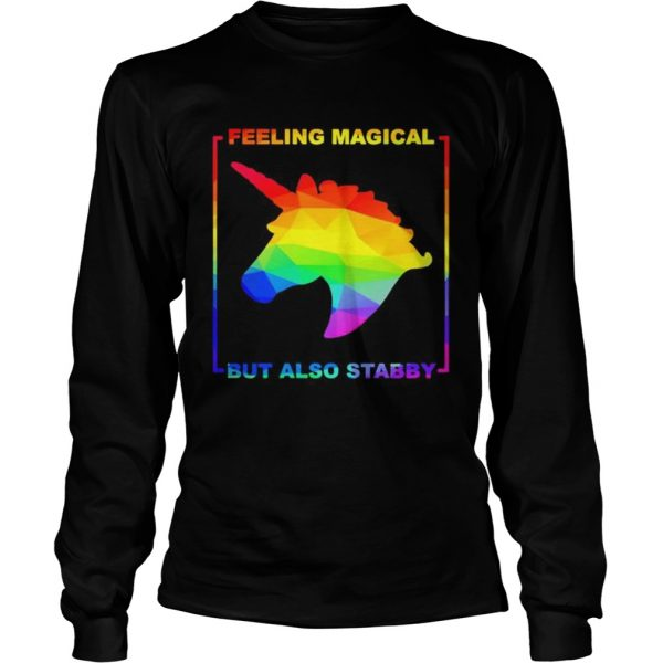 LGBT unicorn feeling magical but also stabby  Long Sleeve