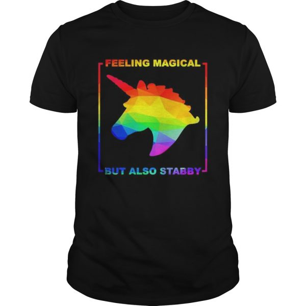 LGBT unicorn feeling magical but also stabby  Unisex