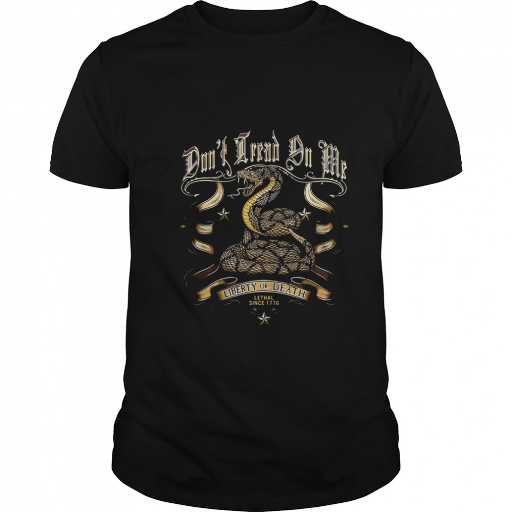 Liberty Or Death Lethal Since 1776 Cobra Classic Men's T-shirt