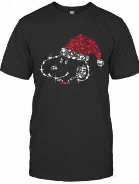 Merry Christmas Snoopy Santa Diamond T-Shirt