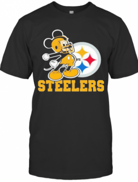 Mickey Mouse Pittsburgh Steelers Football Logo Team T-Shirt