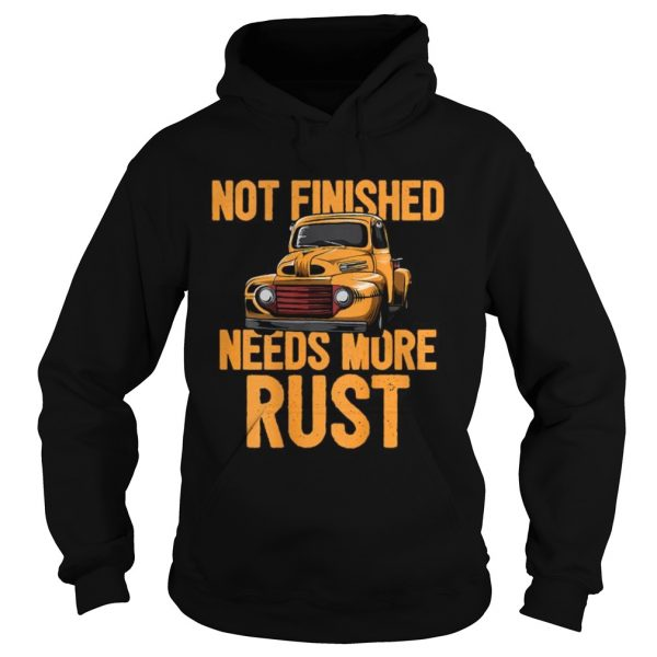 Not Finished Needs More Rust Print On Back Rat Rod  Hoodie