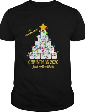 Oh quarantree Christmas 2020 just roll with it toilet paper tree shirt
