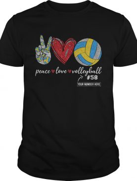Peace Love Volleyball 58 shirt