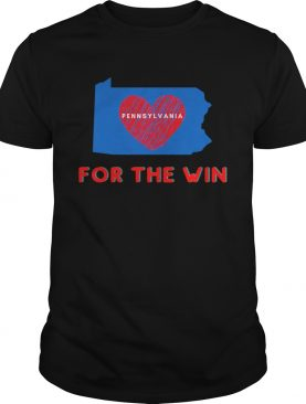 Pennsylvania for the win patriotic biden and harris heart shirt