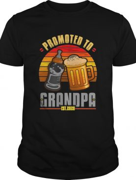 Promoted to grandpa shirt