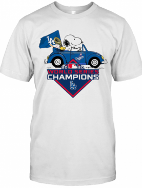 Snoopy And Woodstocks Los Angeles Dodgers 2020 World Series Champion T-Shirt