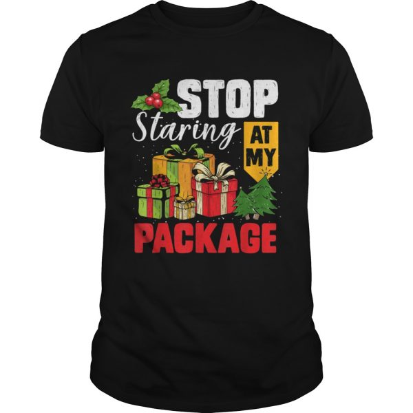 Stop Staring At My Package Christmas Tree  Unisex