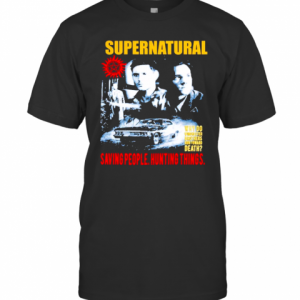 Supernatural Saving People Hunting Things T-Shirt Classic Men's T-shirt