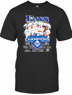 Tampa Bay Rays 2020 American League Champions Played Signatures T-Shirt