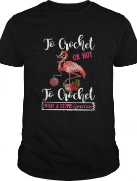 To Crochet Or Not To Crochet What A Stupid Question shirt