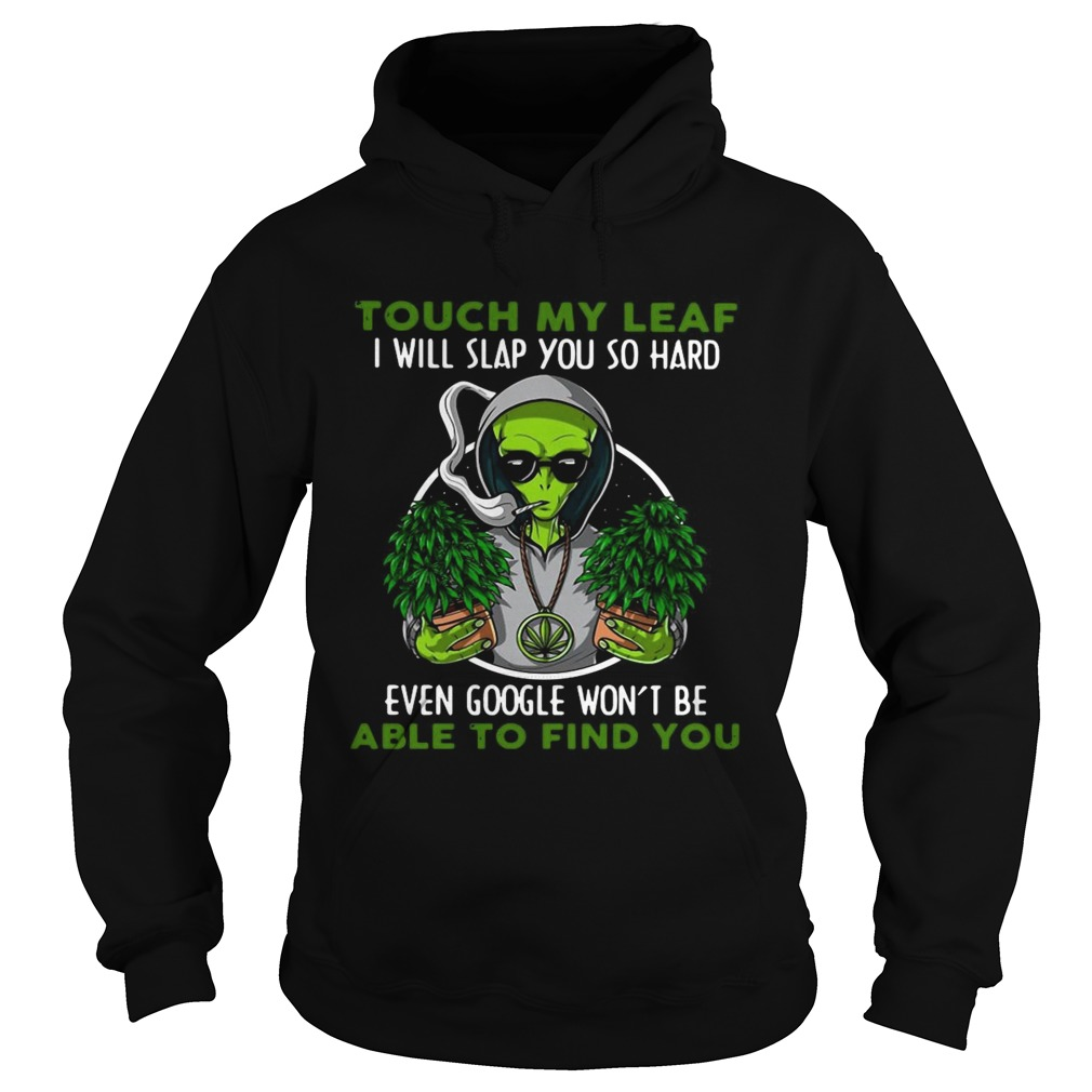 Touch My Leaf I Will Slap You So Hard Even Google Wont Be Able To Find You Hoodie