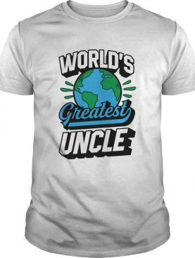 Worlds Greatest Uncle Planet Earth Black shirt