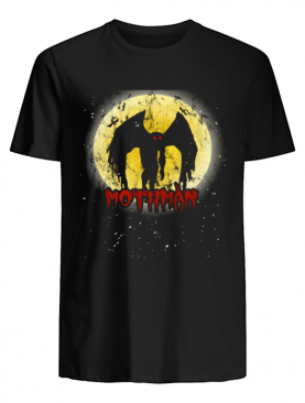 Yellow Moon With Bats and Mothman Folklore shirt