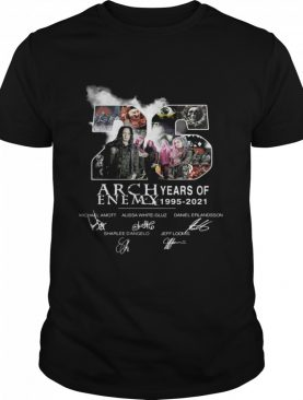 26 Years Of Arch Enemy 1995 2021 Signatures shirt