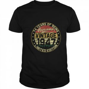 74th Birthday Vintage 1947 74 Years  Classic Men's T-shirt