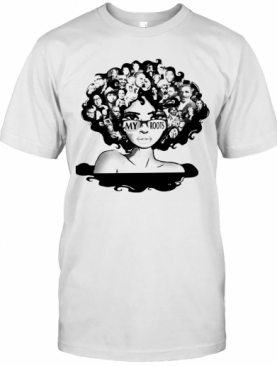 Afro Afro Lady Roots My Roots Obama Rosa T-Shirt