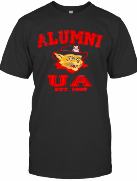 Alumni Ua Est 1885 Man Wildcat Hat Black T-Shirt