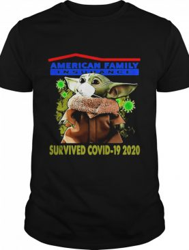 Baby Yoda face mask American Family Insurance Survived Covid 19 2020 shirt