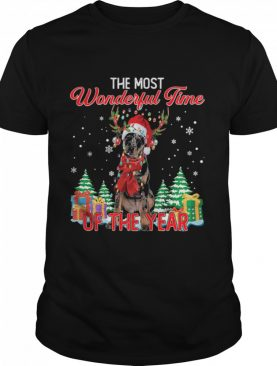 Beauceron Santa the most wonderful time of the year Christmas shirt