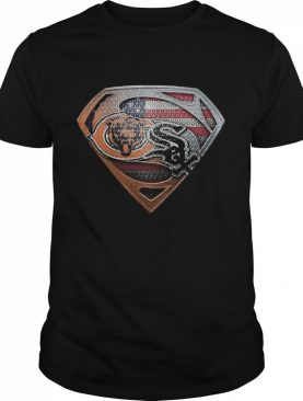 Chicago bears and chicago white sox american flag shirt
