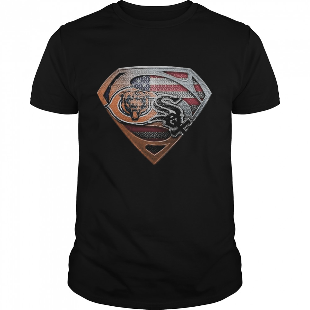 Chicago bears and chicago white sox american flag  Classic Men's T-shirt