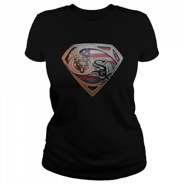 Chicago bears and chicago white sox american flag  Classic Women's T-shirt
