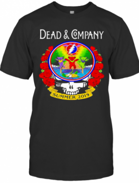 Grateful Dead And Company Dancing Bear Roses Summer 2019 T-Shirt