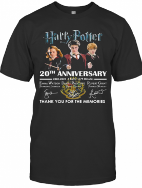 Harry Potter 20Th Anniversary Thank You For The Memories Signuature T-Shirt