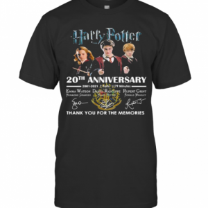 Harry Potter 20Th Anniversary Thank You For The Memories Signuature T-Shirt Classic Men's T-shirt