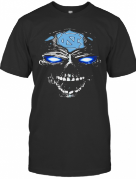 Head Skull North Carolina Tar Heels Football T-Shirt