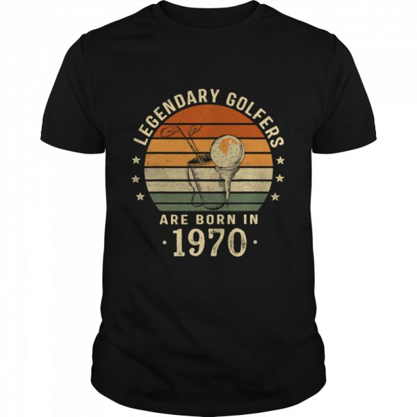 Legendary Golfers Are Born In 1970 50th Birthday Vintage  Classic Men's T-shirt