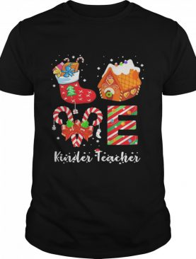 Love Socks House Kinder Teacher Merry Christmas shirt