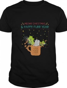 Meowy Christmas Happy Furr Year shirt