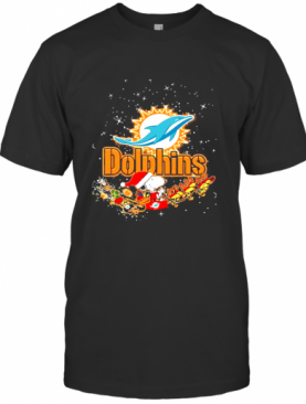Miami Dolphins Snoopy Christmas T-Shirt